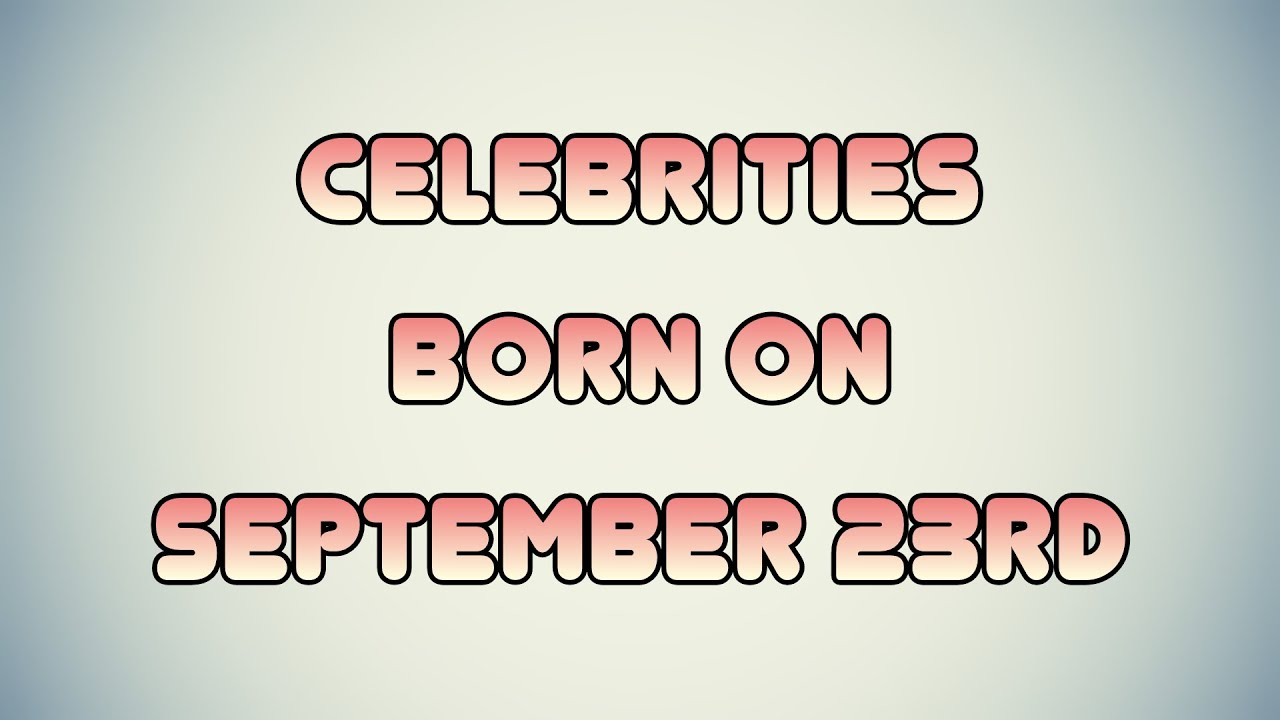 September 15 - Famous Birthdays - On This Day