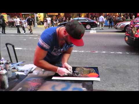 spray paint art new york space printer