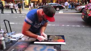 spray paint art new york space printer