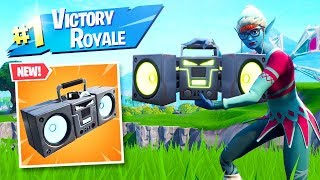The New BOOM BOX is OVERPOWERED in Fortnite..