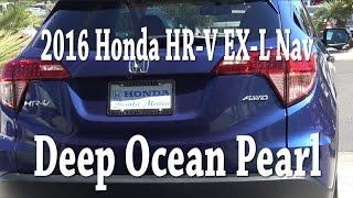2016 Honda HR V Deep Ocean Pearl (blue) Color