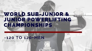 Men, 120-120+ kg - World Sub-Junior & Junior Powerlifting Championships 2019