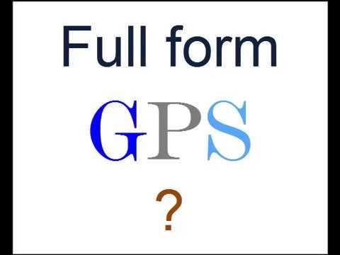 Full Form of GPS ? - YouTube