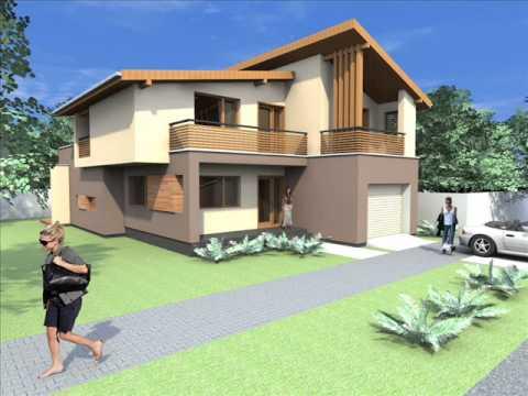 Proiect casa moderna casa moderna arad casa bucuresti for Youtube case cu mansarda