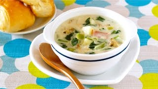 Healthy Homemade Clam Chowder (perfect Family Recipe) クラムチャウダーの作り方 - Ochikeron - Create Eat Happy