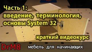 DrM8 - мебель для начинающих. Часть 1: введение, терминология, основы System 32.