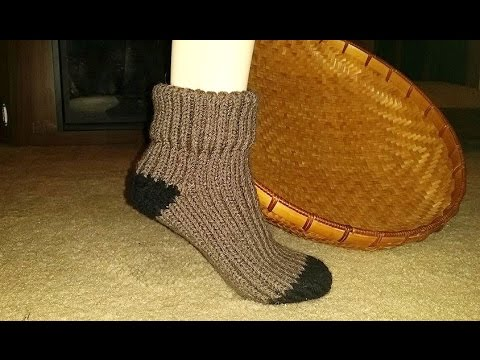 Glamas His Hers Loom Knit Sock Youtube