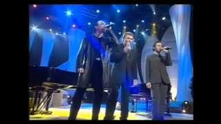 """Hallyday  Obispo Goldman """"Quelque chose de Tenessee"""" Les Victoires de la Musique 1998"""