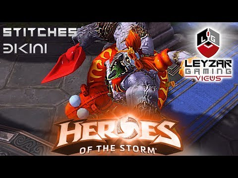 Heroes of the Storm (Gameplay) - Stitches Bikini Skin (HotS Stitches Gameplay Quick Match)
