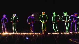 North Coventry talent show finale... glowstick men