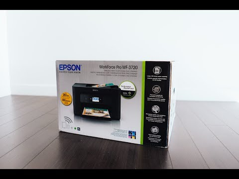 EPSON WorkForce Pro WF 3720 Printer (UNBOXING & SETUP)