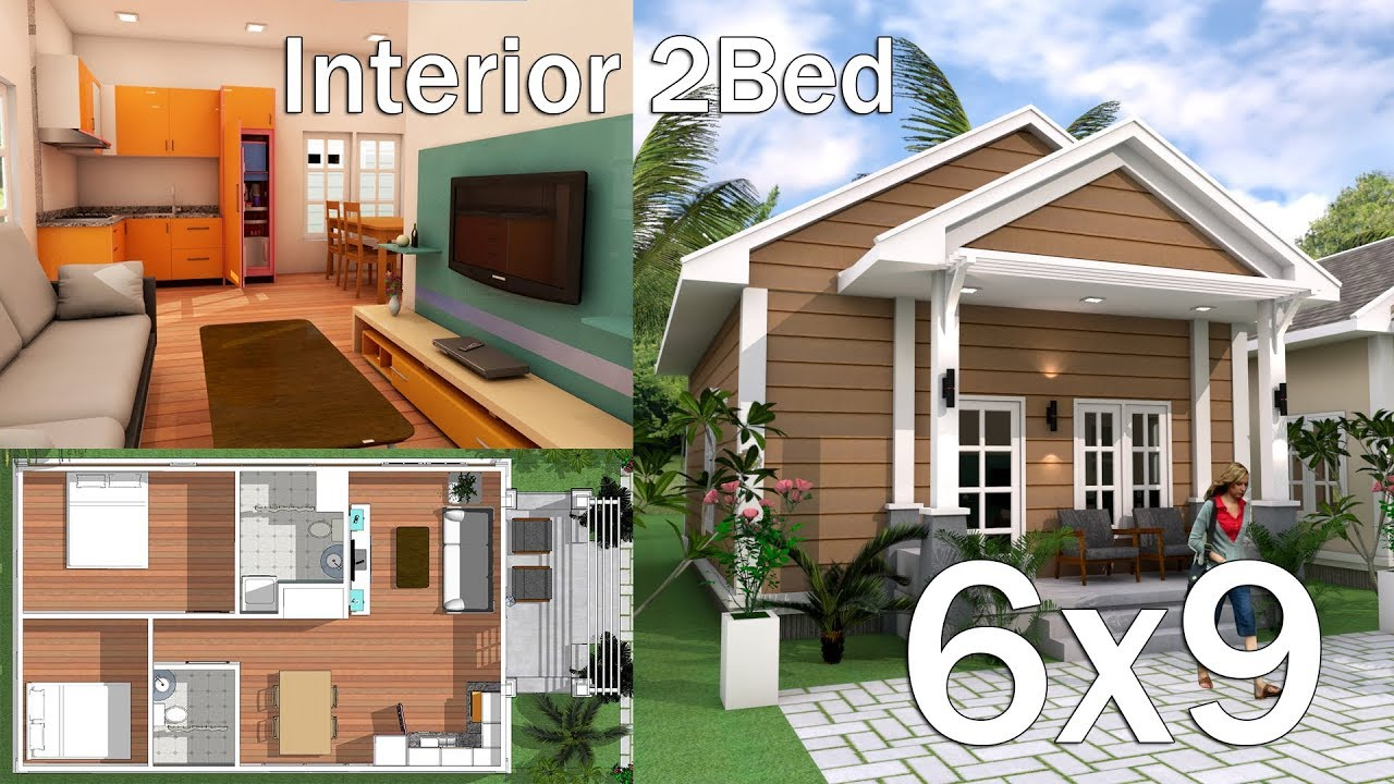 6x9m Interior Low Budget Home Plan With 2 Bedrooms Youtube