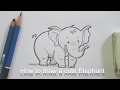 How to draw a cute cartoon Elephant step by step for kids