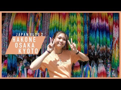 JAPAN (FOOD) TOURS: HAKONE, KYOTO,  OSAKA  VLOG | Joelle in Japan pt 2