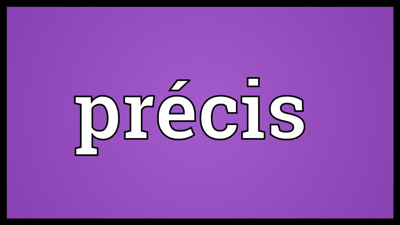 pr u00e9cis meaning