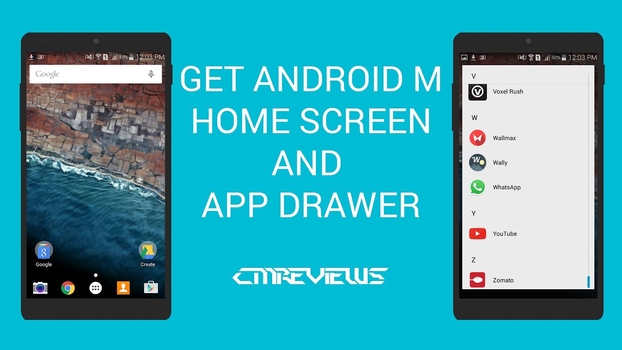 get android m homescreen and app drawer