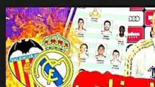 تشكيله ريال مدريد ضد فالنسيا  / اليوم انشالله . / #●□ عالم ريال مدريد