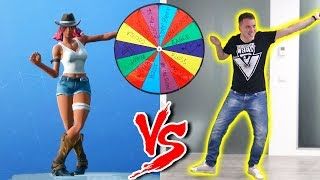 THE RUOTA OF FORTNITE BALLS vs ILLUMINATI CREW - Fortnite Dance Challenge in REAL LIFE!
