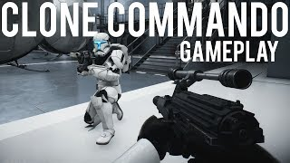 Clone Commando gameplay Star Wars Battlefront 2