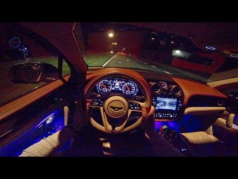 Bentley Bentayga NIGHT DRIVE POV & Interior LIGHTING by AutoTopNL