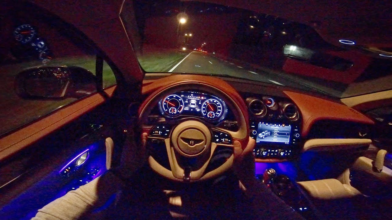 Bentley Bentayga NIGHT DRIVE POV & Interior LIGHTING by ...