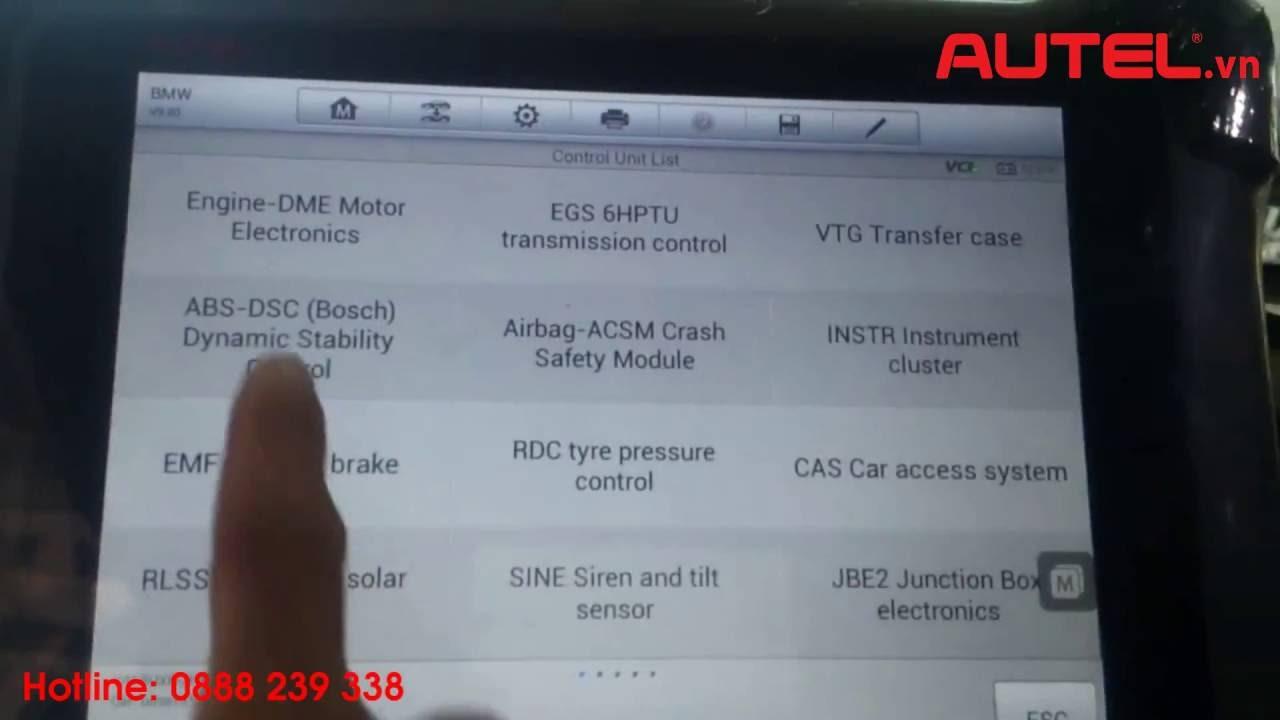 video autel maxisys pro p coding dscabs bmw