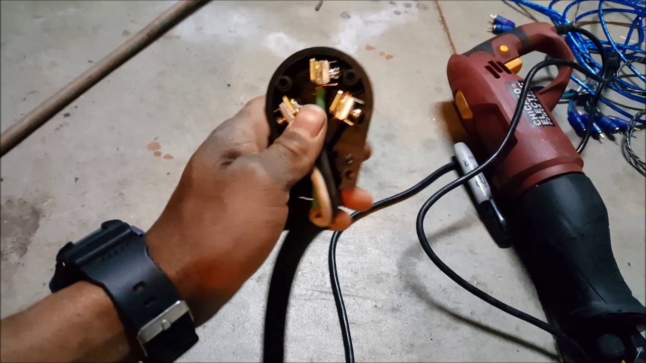 how to wire your 220 volt air compressor to 3 prong dryer outlet rh youtube com air compressor 240v plug craftsman air compressor wiring diagram [ 1280 x 720 Pixel ]