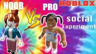 NOOB VS PRO SOCIAL EXPERIMENT On Roblox