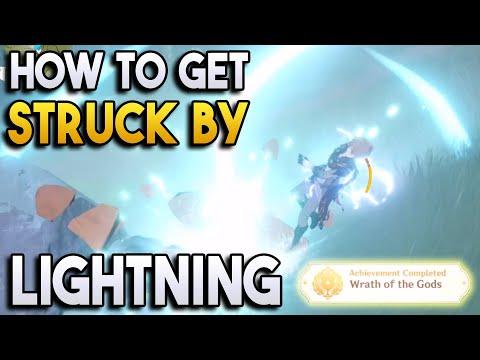 【Genshin Impact】How to get Struck by Lightning! + Achievement