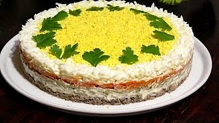 """Салат с куриной печенью """"ПЕЧЁНКИН"""" /Chicken Liver Salad"""