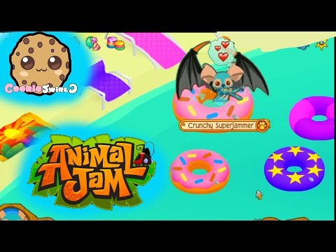 Cookieswirlc Animal Jam Online Game Play with Cookie Fans !!!! Random pool Party Dens Video