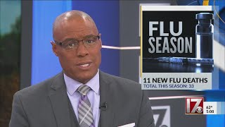 11 new flu-related deaths in NC