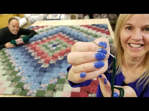 How To HAND-TIE Your Quilt AT HOME With Matt And Donna!
