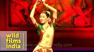 Kassiyet Adilkhankyzy performs Bharatnatyam dance at 4th Indo-European Dance Festival (IEDF), Delhi