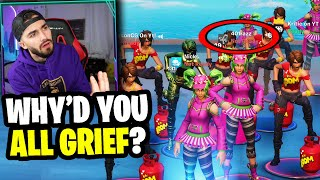 I confronted the leader of this toxic tik tok clan for griefing my customs... (he said this!)