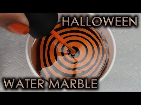 Halloween Water Marble | DIY Nail Art Tutorial