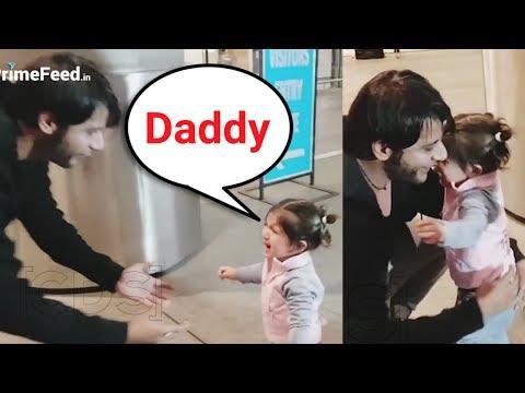 Karanvir Bohra Daughter Bella Starts Crying After Seeing Her Father