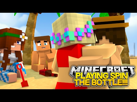 PLAYING SPIN THE BOTTLE WITH BOYS || BAYWATCH!!!- Baby Leah Minecraft Roleplay!