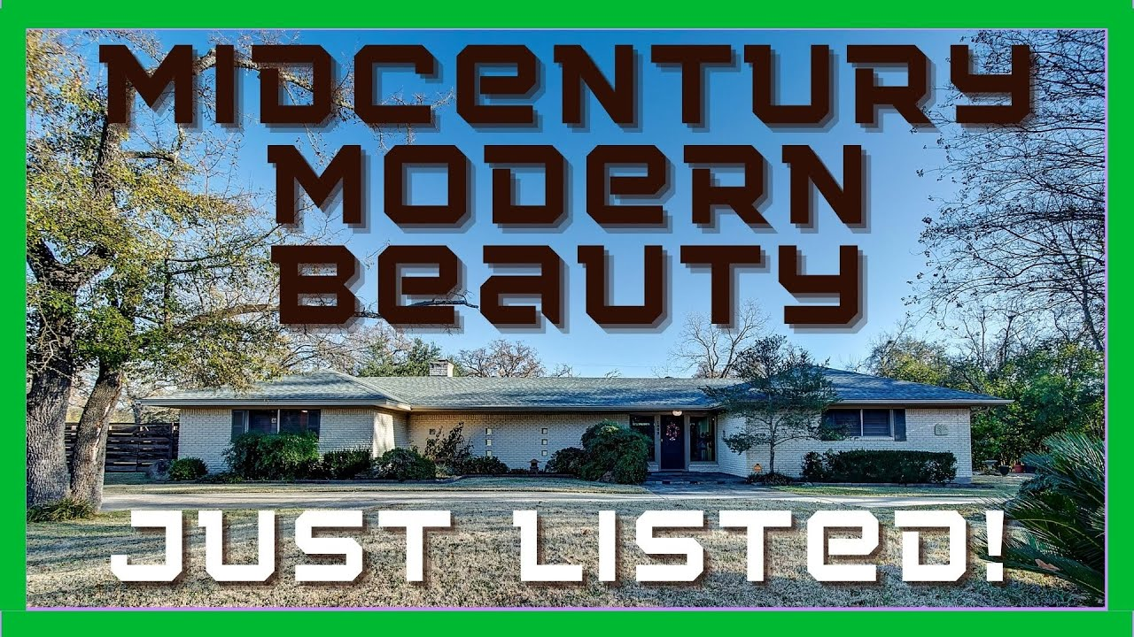 New Midcentury Modern Listing in Central College Station Texas