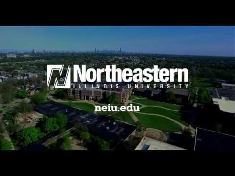 Aerial View of Northeastern Illinois University's Main Campus