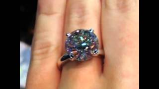 Gorgeous 5 carat round brilliant engagement ring