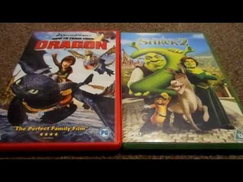 How To Train Your Dragon And Shrek Uk Dvd Unboxing
