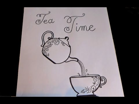 Page Garde Cahier D Anglais Tea Time Decorate Your English Notebook