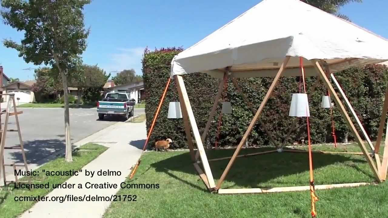 & 1V Geodesic Dome Shade Structue For Burning Man - YouTube