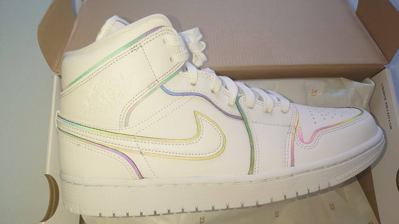 air jordan 1 mid se iridescent