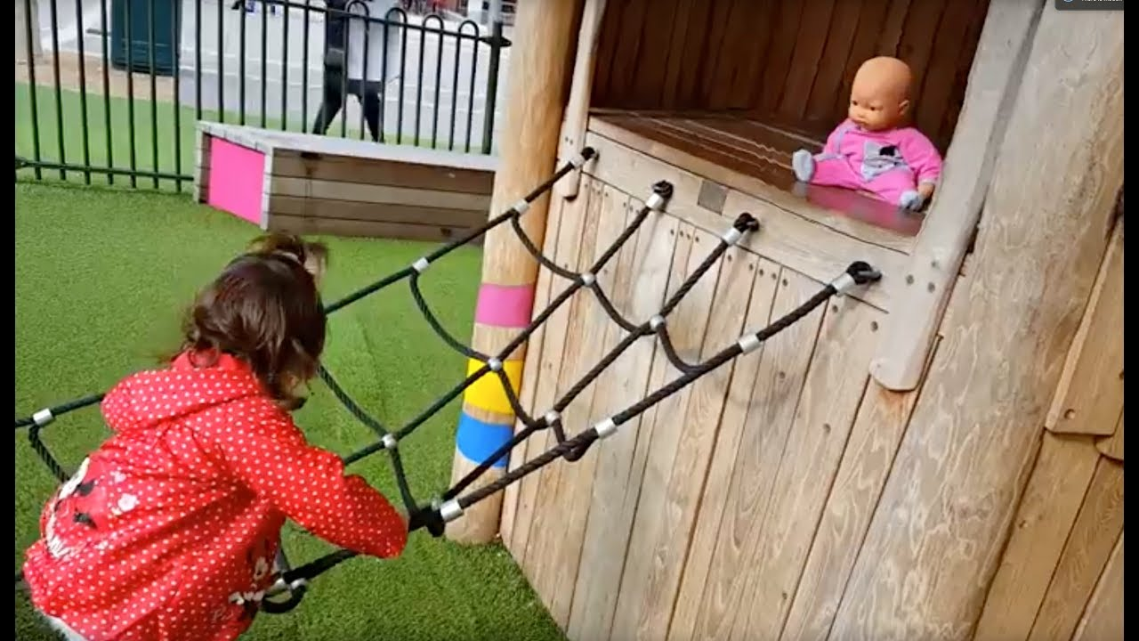 fun playground for kids slides and swing youtube. Black Bedroom Furniture Sets. Home Design Ideas