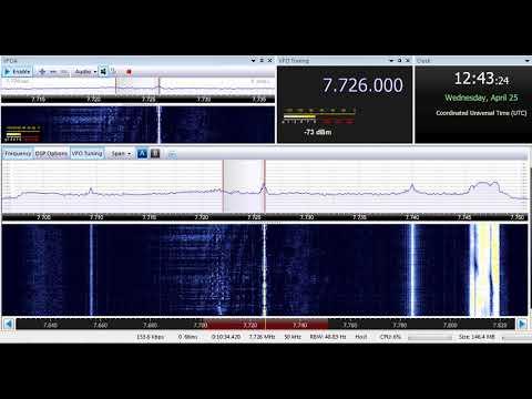 25 04 2018 Zeppelin Radio Greek Music Pirate 1242 on 7726 kHz