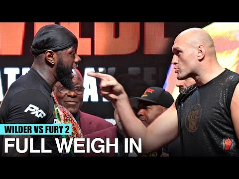 DEONTAY WILDER VS TYSON FURY 2 - FULL WEIGH IN & FACE OFF VIDEO