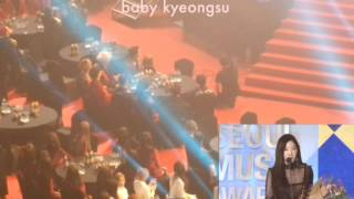 170119 EXO reaction to Taeyeon 26th Seoul Music Awards