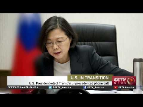 Donald Trump calls Taiwan leader Tsai Ing-wen